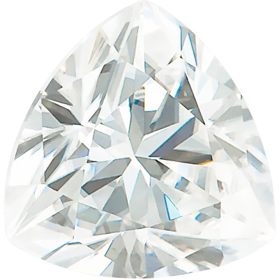 Value Grade Moissanite DEF Color Trillion