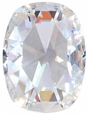 Value Grade Moissanite GHI Color Antique Cushion, Rose Cut