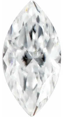 Value Grade Moissanite GHI Color Marquise