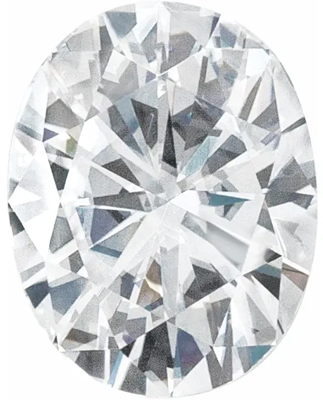 Value Grade Moissanite GHI Color Oval