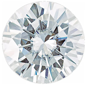 Value Grade Moissanite GHI Color Round