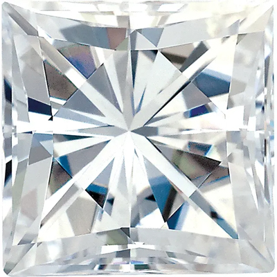 Value Grade Moissanite GHI Color Square Brilliant