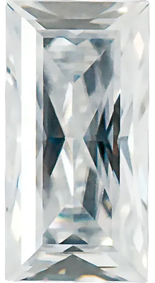Value Grade Moissanite GHI Color Straight Baguette