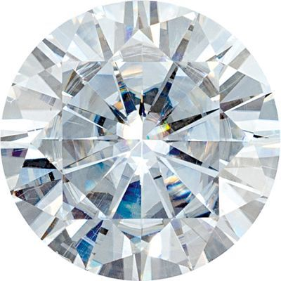 Synthetic Value Quality Loose Moissanite Gemstone in Round Cut, 6.50 mm in Size, 0.88 Carats