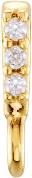 Versatile 14kt Gold .015 CTW Diamond Accented Preset Bail with Vertical Ring - 3.00 x 1.20 mm Inside