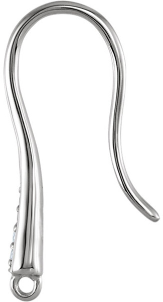 Versatile Sterling Silver .1 CTW Diamond French Ear Wire for SALE