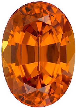 Very Appealing Orange Oval Spessartite Garnet Stone, Intense Rich Orange, 9 x 6.3 mm, 2.57 carats