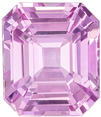 Very Attractive Baby Pink No Heat GIA Certified Pink Sapphire Genuine Gemstone, Emerald Cut, Medium Baby Pink, 7.4 x 6.39 x 4.44 mm, 2.03 carats
