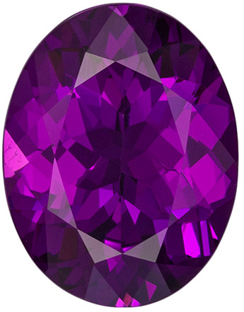 Unusual Rich Purple Garnet Gemstone in Oval Cut, Rich Grape Purple Color in 3.75 carats , 11.4 x 8.8 mm