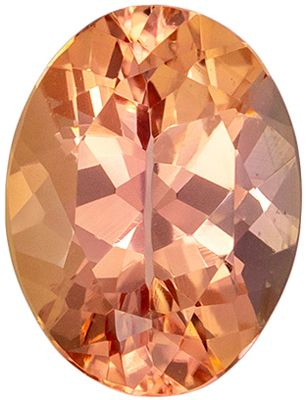 Very Attractive Imperial Topaz Oval Cut Loose Gemstone Sherry Peach, 7.6 x 5.7 mm, 1.21 carats