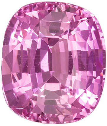 Super Sharp Total Gem Pink Sapphire in Rich Pink Color in 2.10 carats , 7.4 x 6.3 mm