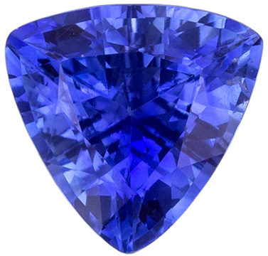 Very Beautiful Blue Sapphire Gemstone in Trillion Cut, Vivid Rich Blue, 5.6 mm, 0.68 carats
