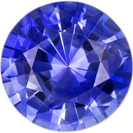 Very Beautiful Sapphire Loose Gemstone in Round Cut, Vivid Rich Blue, 5.9 mm, 0.91 carats
