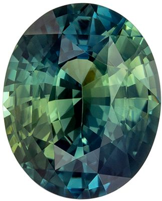 Very Bright Blue Green Sapphire Genuine Gem, Teal Blue Green, Oval Cut, 10.5 x 8.4 mm, 3.85 carats