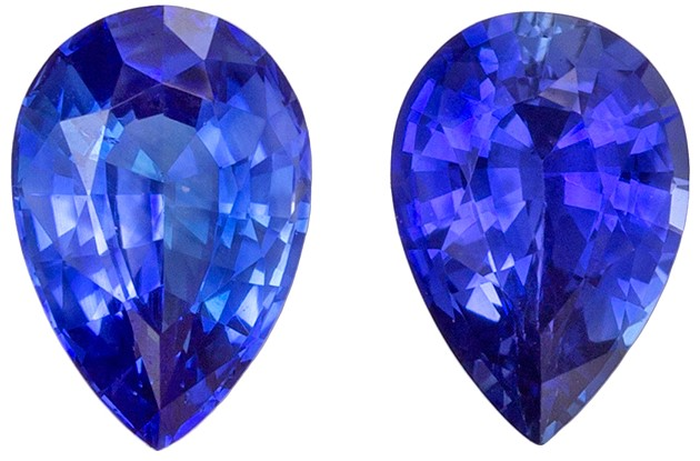 Stunning Blue Sapphire Loose Gemstone, 0.93 carats, Pear Cut, 5.9 x 4  mm , Wonderful Gem - Great Deal