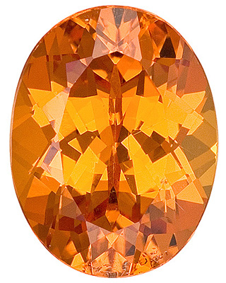 Very Bright! Outstanding Nigerian Unheated Spessartite Garnet Genuine Gemstone, Oval Cut, 2.49 carats