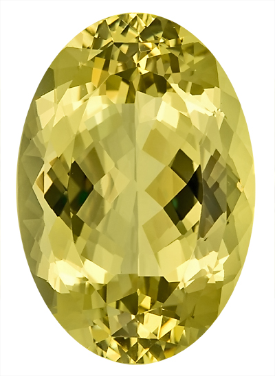 Very Bright, Unique Tone, Genuine Large Nigerian Yellow Beryl Unheated Gemstone, Oval Cut, 24.7 x 16.9 mm, 26.59 carats