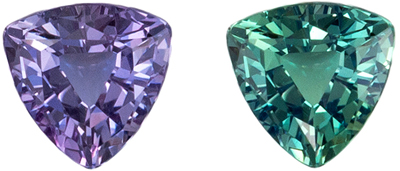 Very Desirable Alexandrite Loose Gem, Trillion Cut, Teal Blue to Magenta, 3.8 mm, 0.21 carats