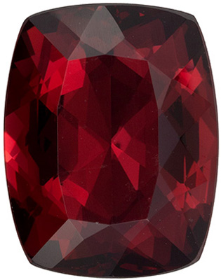 Very Desirable Rhodolite Genuine Gem in Cushion Cut, Rich Raspberry, 12.4 x 9.6 mm, 6.04 carats