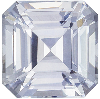 Colorless White Sapphire Diamond Look a Like in Asscher Cut, Very Colorless White, 1.35 carats , 5.8 mm