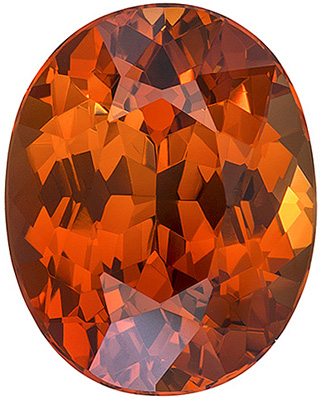 Very Desirable Vivid Orange  No Treatment Nigerian Orange Spessartite - Excellent Cut & Clarity, Oval Cut, 4.2 carats