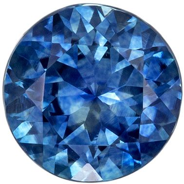 Very Desired Blue Green Sapphire Genuine Gem, Vivid Teal Blue, Round Cut, 6 mm, 1.03 carats