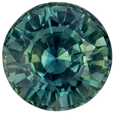 Very Desired Unheated GIA Certified Blue Green Sapphire Genuine Gemstone, 6.76 x 6.86 x 4.83 mm, Teal Blue Green, Round Cut, 1.76 carats