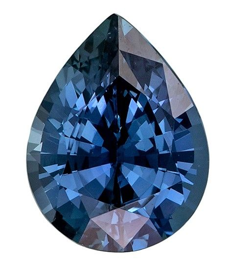 Very Fine 7.9 x 6.1 mm Sapphire Loose Genuine Gemstone in Pear Cut, Blue Green, 1.36 carats