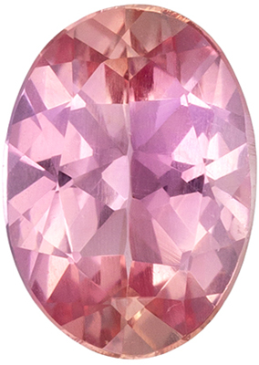 Very Fine Genuine Imperial Topaz Loose Gem, 6.8 x 4.8 mm, Rich Pinky SherryOval Cut, 0.67 carats