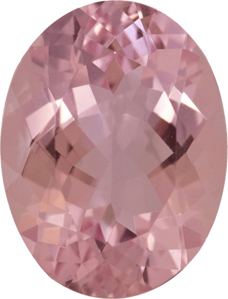 Very Fine Loose Morganite Gem, Stunning Deep Pink Color in German Cut, 12.3 x 9.6 mm, 4.27 carats