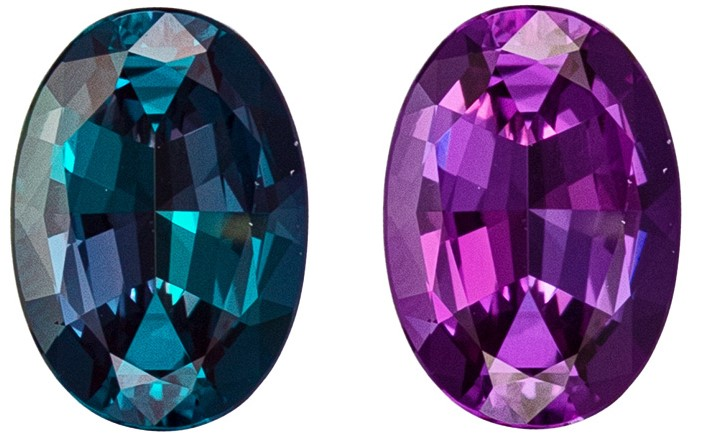 Very Fine 0.72 carat Oval Loose Alexandrite Gem in Oval Cut, Brazil Origin, Clean Super Color Change with GIA Certificate
