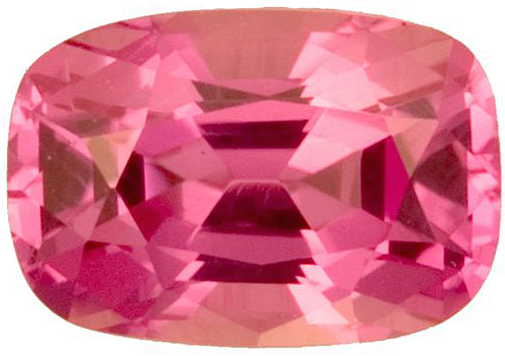 Very Fine Pink Sapphire Genuine Gemstone for SALE, Antique Cushion Cut, 1.48 carats
