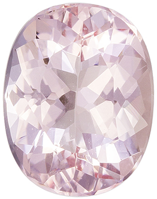 Very Lively Morganite Oval Cut Genuine Gem, Pure Peach, 9 x 6.9 mm, 1.65 carats