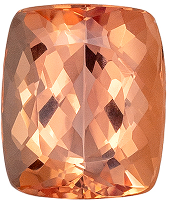Gorgeous Sherry Precious Topaz Loose Gem in Vibrant Sherry Peach Colors in Cushion Cut, 7.6 x 6.4 mm, 2.05 carats