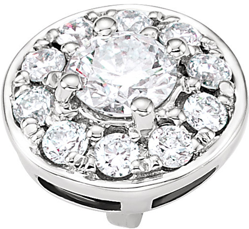 Very Pretty 1/4 ctw Diamond Round Cluster Peg Preset Jewelry Finding for SALE in 14kt White Gold