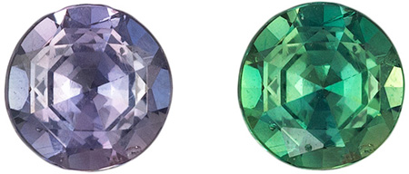 Very Pretty Alexandrite Loose Gem, Strong Color Change, Round Cut, 3.9 mm, 0.25 carats