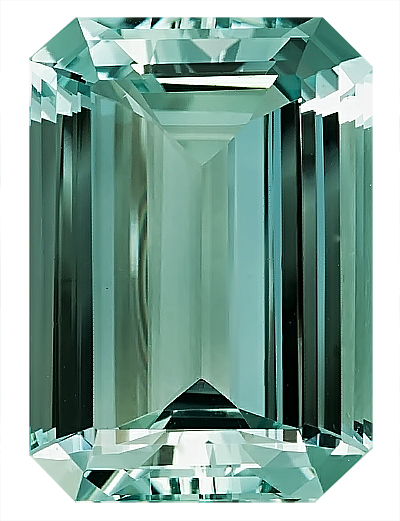 Very Pretty Green Beryl Nigerian Gemstone, Octagon Cut, 20.3 x 14.3 mm, 17.44 carats