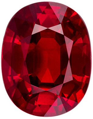 Very Pretty  GRS Certified Ruby Loose Gemstone, Rich Pigeons Blood, Oval Cut, 9.68 x 7.56 x 4.71 mm, 3.07 carats