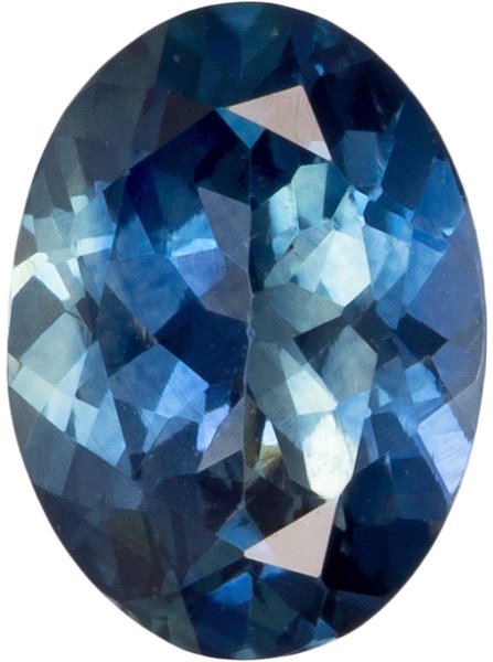 Very Pretty Oval Cut Blue Green Sapphire Loose Gem, Rich Teal Blue, 6.8 x 5 mm, 0.92 carats
