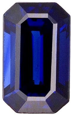 Total Deal on Blue Sapphire Loose Gem, Vivid Rich Blue, Emerald Cut, 5.2 x 3.1 mm, 0.45 carats