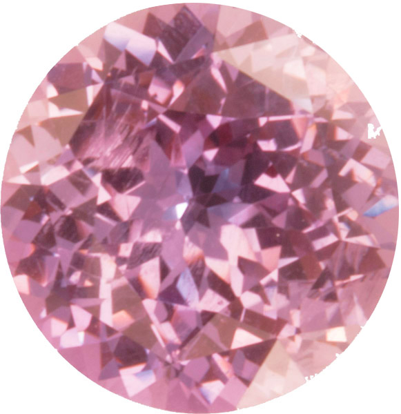 Very Rare AGTA Certified Round Cut Pink Sapphire Gemstone, No Heat Gem in 12.0 mm, 7.57 carats