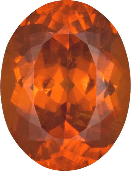 Very Rare Namibian Spessartite Garnet Gem in Oval Cut, Rare Old Material in Sunkist Orange Color, 11.4 x 8.7 mm, 5.01 carats