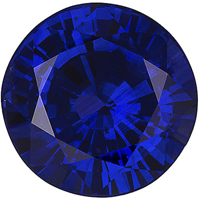 Very Rare Super Gem Clean Ceylon Blue Sapphire - Hard to Find Size, Round Cut, 3.11 carats