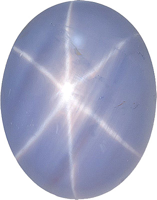 Very Sharp Ceylon Star Sapphire Gemstone - Great Outline & Cut, 10.7 x 8.4 mm, Strong Centered Ray, Oval Cut, 10.7 x 8.4 mm, 5.09 carats
