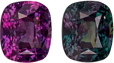 Very Special Gem 1.59 carats Natural Fine Alexandrite Gemstone in Cushion Cut, Forest Green to Burgundy Eggplant, 6.8 x 5.7 mm