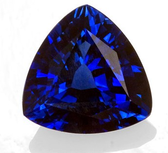 Very Special Gem 8.1 mm Sapphire Loose Gemstone in Trillion Cut, Medium Blue, 1.93 carats