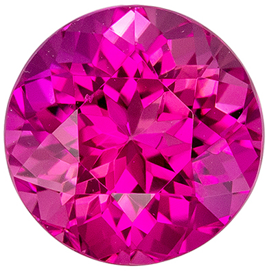 Very Special Pink Tourmaline Loose Gemstone, Rich Hot Pink, Round Cut, 7.6 mm, 1.99 carats