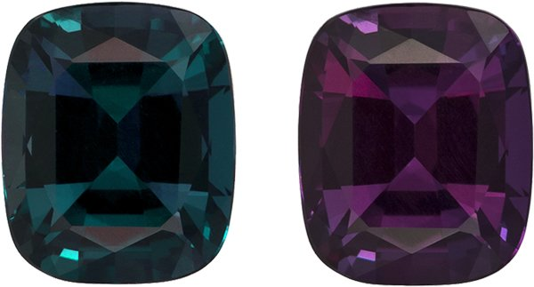 Very Special Teal to Eggplant Alexandrite Loose Gem in Cushion Cut, 7.7 x 6.4 mm, 1.79 Carats - With Gubelin Certificate