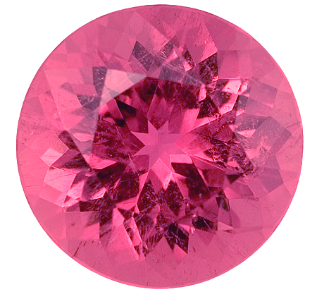 Very Special Untreated Pink Tourmaline Fine Gemstone - 15mm Size Great for Jewelry, Round Cut, 12.27 carats
