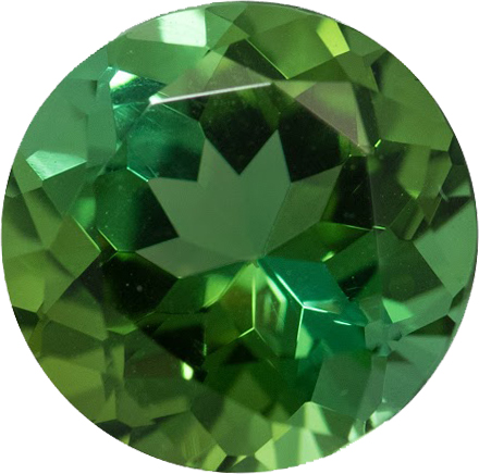 Vibrant Blue Green Round Cut Loose Tourmaline Gemstone in 9.2 mm, 3.02 carats